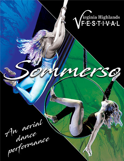 Sommerso! An aerial dance performance.